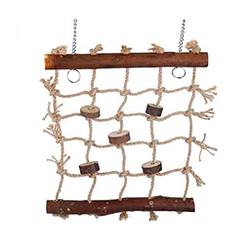 Cáñamo pájaros loro escalera cuerda de cañamo natural
