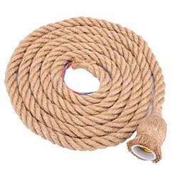 cuerda de cañamo con cable electrico