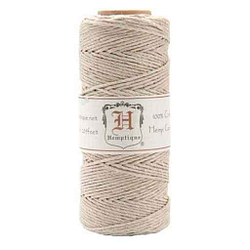 hilo canamo hemptique color natural beige de 54 gr ilo cañamo artesanal