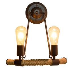Apliques pared luz lampara cañamo industrial lámpara de pared 38 * 41 cm
