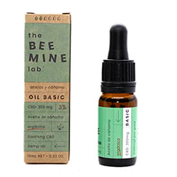 Beemine gotas de aceite de cáñamo orgánico 300 mg (3% CBD) 10ml espectro completo
