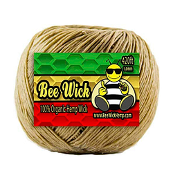 Bobina de mecha de cáñamo con cerilla de abeja marca Bee 420 pies de 1,0 mm espesor