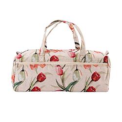 Bolsa Cáñamo como una bolsa de cosméticos (Rote Rose) rosa con blanco