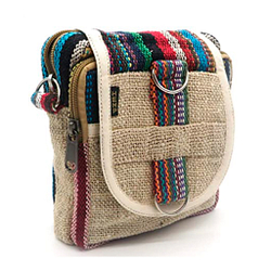 Bolso bandolera de Cáñamo diseño Unisex pequeño estilo hippie rasta Etnico