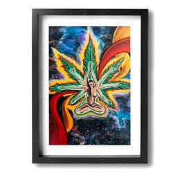 Cañamo imagen para decoración del hogar enmarcado para colgar, 30,5 x 40,6 cm
