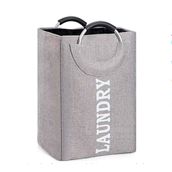 Cáñamo organico fibra cesto de ropa grande plegable con anillo de aluminio
