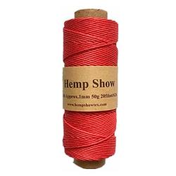 Cáñamo ovillo natural para tejer maxima calidad 1 mm de espesor x 62 m largo rojo