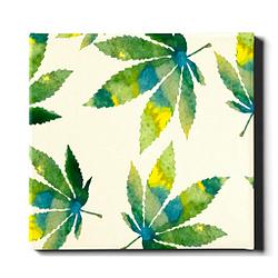 Cuadro imagen con cañamo para oficina o cocina 20 x 24 Pulgadas o 50 x 60 cm marco madera