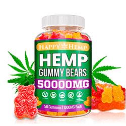 Gomitas de cáñamo para el dolor y la ansiedad 50000mg orgánico Omega 3, 6 y 9 All Natural alivio del estrés