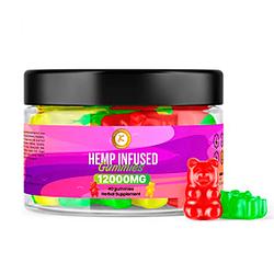 Gomitas premium Cáñamo 12000 MG 40 gomitas Máximo efecto Alivio de ansiedad y estrés