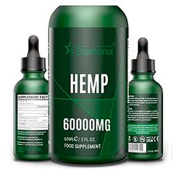 Gota cañamo natural, ingredientes no OMG, estándares GMP (60 ML-60000mg)