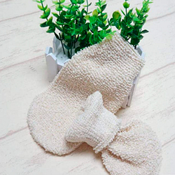 Guantes cañao de baño masaje