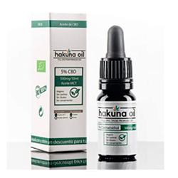 Hakuna Oil – aceite cañamo premuim orgánico y ecológico BIO 5% 500mg 10 ml 100% Natural