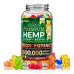 Hemp Gummies Premium XXL 800,000 High Potency - Oso de goma con aceite de cáñamo