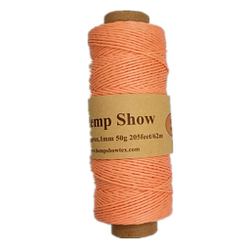 Hemp Show Ovillo de cáñamo de alta calidad, 1 mm x 62 m color Naranja