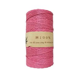 Hemp Show cordel de cáñamo de 1 mm, 130 m, 100 g, 430 pies, Rosa