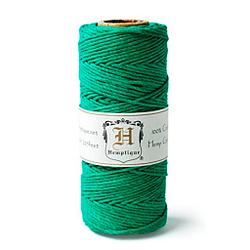 Hemptique Cordel hecho de fibra de cañamo color Verde tinte natural 62.5 metros