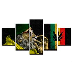 Lienzo de cañamo 5 cuadros modular arte de pared moderno impresiones 25x40cmx2P, 20x50cmx2P, 20x60cmx1P sin marco