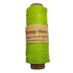 Ovillo cáñamo marca Hemp Show organico color verde cañamo 1 mm x 62 m