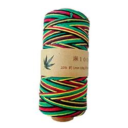 Ovillo de cáñamo de 1 mm, 130 m, 100 gramos natural ecologico suave jamaiquino