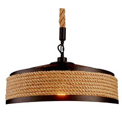 Retro industrial hierro vintage Loft lámpara colgante vintage cuerda lámpara de techo