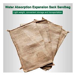 Water 3pcs saco hecho de fibra de cañamo para arena protección contra inundaciones reutilizable