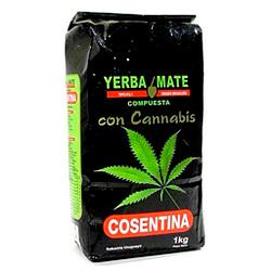 Yerba para te mate de cañamo cannabis 1 kilo marca CONSENTINA
