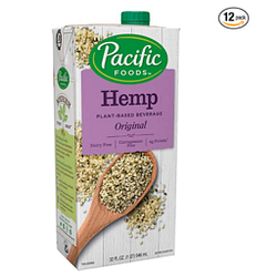 Pacific Foods Hemp Milk, Original 32 oz (Pack of 12), Shelf Stable, Plant-Based, Vegan, Non GMO