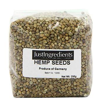 Semillas de cañamo con hidratos y nutrientes
